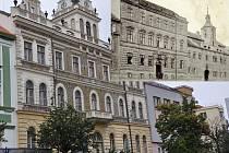 V budově z roku 1903 sídlila radnice do roku 1930.  Ve výřezu stará a nová radnice na dobovém snímku.