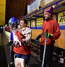 Blatenští fotbalisté zakončili rok 2018 na hokeji.