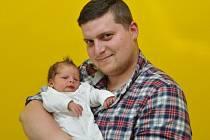 Tadeáš Pál, Kašperské Hory, 16.5. 2017 ve 13.31 hodin, 3350 g. Malý Tadeáš je prvorozený.