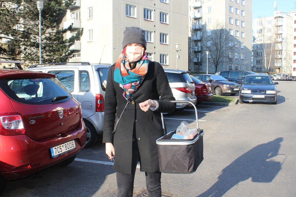 Dobrovolnice Anežka Kunclová.