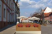 Tak by měla vypadat navrhovaná předzahrádka na konci rampy na Velkém náměstí.