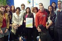 Pracovní tým ze Střední školy a jazykové školy ve Volyni.