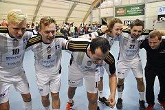 Házenkáři Strakonic porazili doma Handball Brno 24:23.
