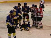 Hokejisté Strakonic porazili Veselí nad Lužnicí na nájezdy 3:2.