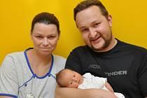 Matyáš Kořán, Strakonice, 11.12. 2015 ve 12.41 hodin, 2950 g. Malý Matyáš je prvorozený.