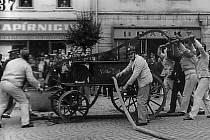 Jedna z historických fotografií vodňanských dobrovolných hasičů.