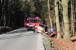 U obce Modlešovice došlo k vážné dopravní nehodě.