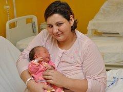 Simona Tomešová, Sedlice, 19.1. 2015 ve 22.00 hodin, 3850 g. Malá Simona je prvorozená.