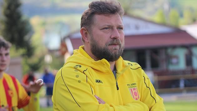 Trenér Junioru Strakonice Luděk Cimrhanzl.