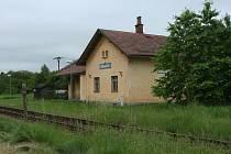 Vlaková zastávka Řepice.