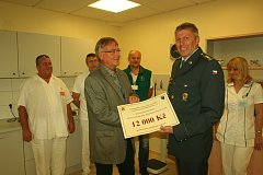 Onkologická ambulance dostala dvanáct tisíc korun.