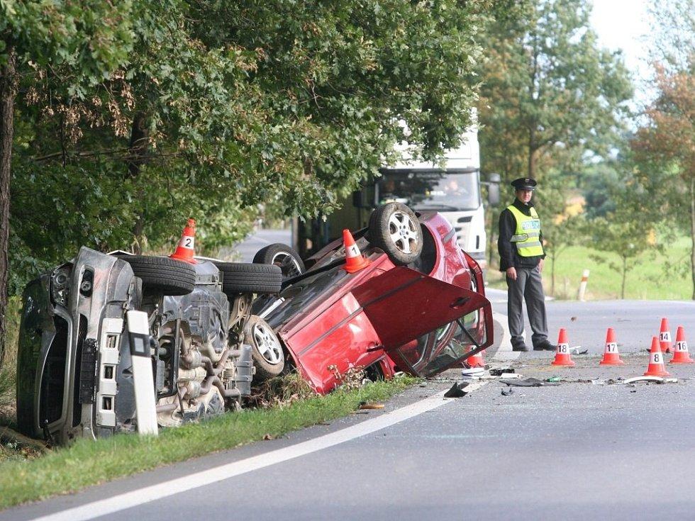 Smrtelná nehoda u Libějovic na Strakonicku v pátek 13. září.