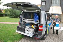 Nový policejní vůz pro mimořádné události.