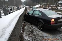 Nehoda na Podsrpu nad Strakonicemi v úterý 31. ledna.