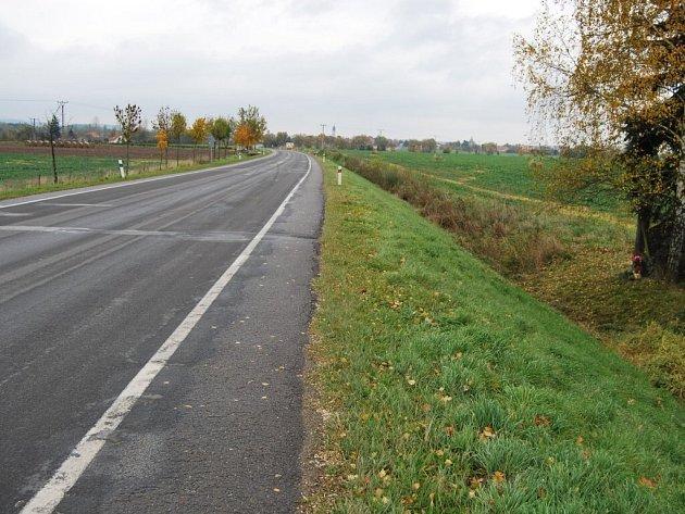 Místo mezi Vodňany a Pražákem, kde k nehodě došlo.