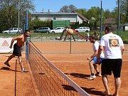 Nohejbalový turnaj v Radomyšli.