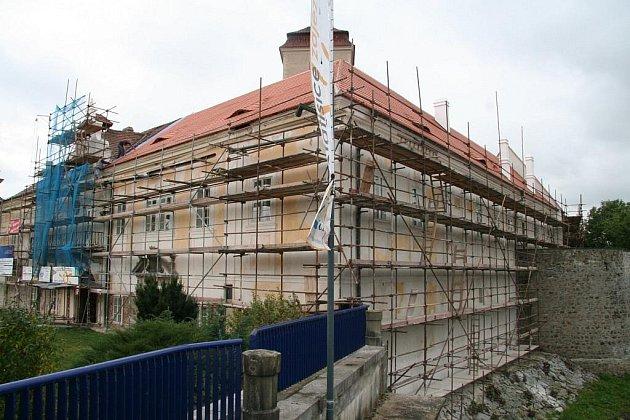 Oprava strakonického hradu.