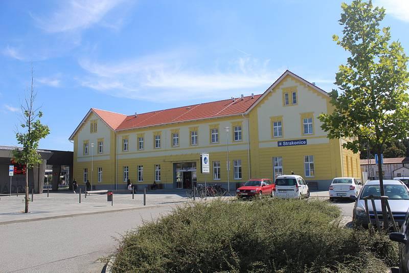 Budova vlakového nádraží.