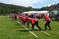 Hasičské soutěže v Dřešíně se zúčastnilo 23 družstev.