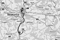 Trasa do Hoštic je dlouho 12 kilometrů