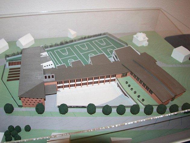 Maketa budoucí školní budovy na Povážské.