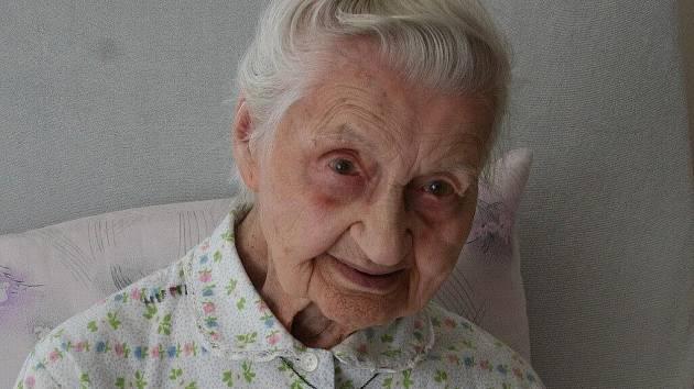 Marie Humlová oslaví 104. narozeniny.