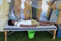 """Celý poslední zářijový víkend hostovala na Nábřeží u lávky u řeky Otavy putovní výstava """"Lékaři b"""