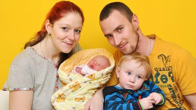 Terezka Štěpánková z Čichtic. Terezka se narodila 24.1.2019 ve 4:44 a při narození vážila 3050 g. Na Terezku doma čekal bráška Dominik (1).