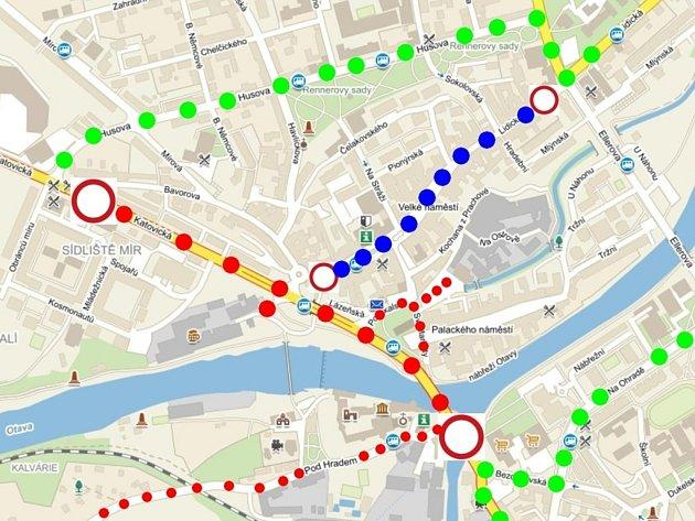Mapa uzavírek