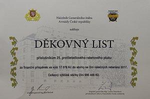 OBRAZEM: Náčelník generálního štábu Armády České republiky děkuje strakonickým vojákům.