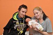 Dominik Štěpánek, Čichtice, 13.11. 2017 ve 13.52 hodin, 3100 g. Malý Dominik je prvorozený.