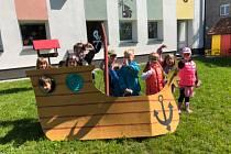 Mezinárodní den dětí v MŠ v Čejeticích.