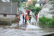 Povodně v Malenicích.