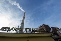 Teplárna ve Strakonicích - Teplárna ve Strakonicích na snímku pořízeném 16. ledna 2021.
