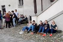 Strakoničtí gymnazisté uvítali na týdenní návštěvě ve Strakonicích studenty z bavorského Nabburgu.