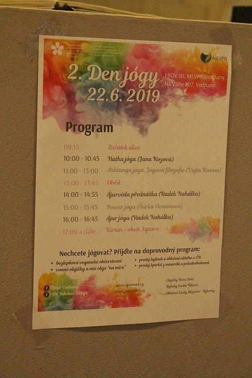 Vodňany - Čtyři typy jógy si v sobotu 22. června vyzkoušeli ve Vodňanech.