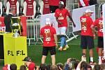 Fanoušci Slávie Praha ze Strakonicka vyrazili do Edenu slavit titul.