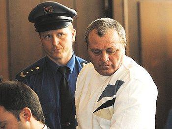 Řezník Václav Tausch u soudu.