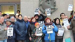 Protest Nejsme slepí! ve Strakonicích