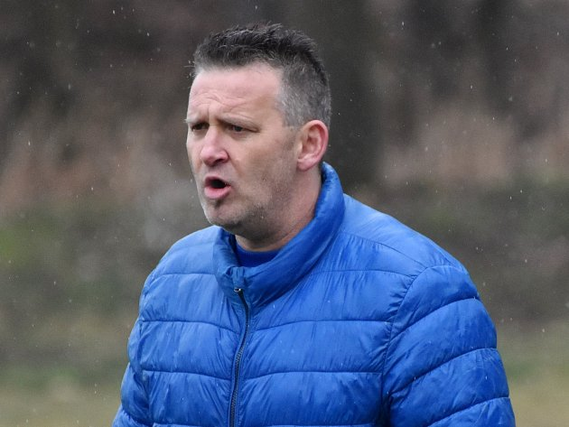 Trenér Blatné Michal Brabec byl po utkání se Slavií ČB spokojen.