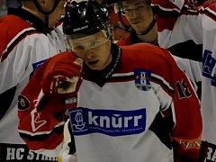 Strakoničtí hokejisté ve 20. kole krajské ligy podlehli Veselí nad Lužnicí 5:8.