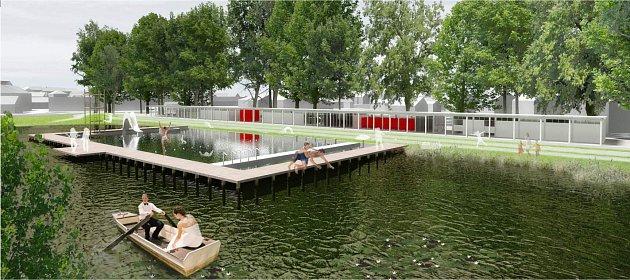 Takhle nějak by v budoucnu mohlo vypadat koupaliště na Škorně, které dnes lidé vnímají jako nejošklivější místo Vodňan. Revitalizace přijde cca na dvacet milionů korun.