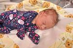 Ema Zbíralová ze Strakonic. Emička se narodila 23. července 2019 ve 13 hodin a 18 minut a její porodní váha byla 3 260 gramů. Holčička bude vyrůstat společně se čtyřletým Mikulášem. foto Ivana Řandová