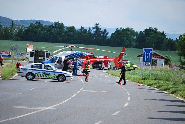 Těžká dopravní nehoda na Katovické