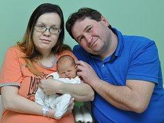 Ellen Suková, Strakonice, 21.1. 2016 ve 12.17 hodin, 2930 g. Malá Ellen je prvorozená.