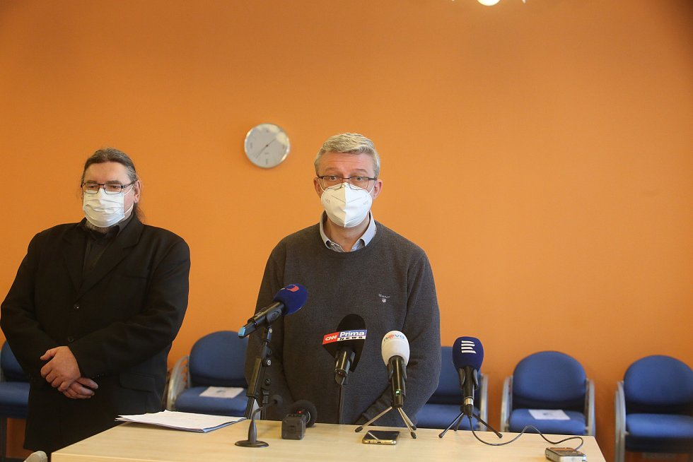 Brífink po jednání ministra průmyslu a obchodu ve Strakonicích.
