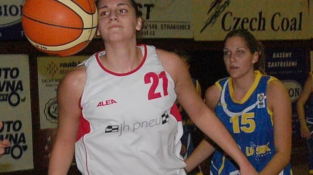 Nejlepší hráčkou Strakonic v duelu s Trutnovem byla podle trenéra Petra Martínka Andrea Sládková. Dala 19 bodů.