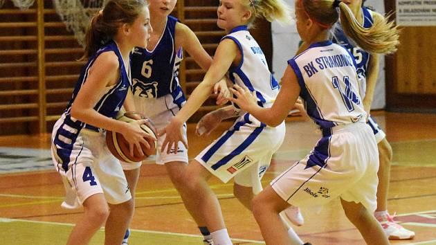 Basketbalové naděje Strakonic.
