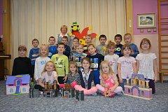 Děti z mateřské školky ve Vodňanech.
