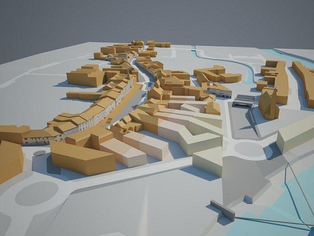 Se zklidněním dopravy počítá i studie proměny městského centra